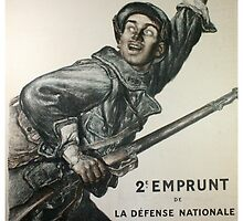 Reprint of a WW1 French Recruiting Poster  by Chris L Smith