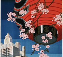 Vintage Japanese Travel Poster by Chris L Smith