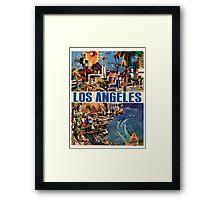 Vintage Travel Poster to LA Framed Print
