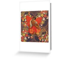A Beautiful Strong Woman Just Flew By Greeting Card