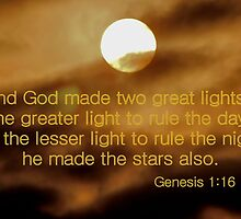 And God Made Two Great Lights by aprilann
