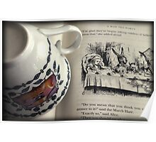 A Little Tea and Reading (Art Print)  Poster