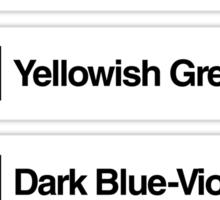 Brick Sorting Labels: Rust, Fabuland Brown, Yellowish Green, Dark Blue-Violet, Light Pink Sticker