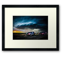 Storm Chasing in Kansas Framed Print