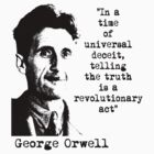 George Orwell by blackiguana