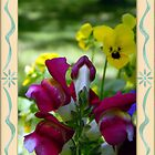 ~ Snapdragons and Violas ~  by Brion Marcum