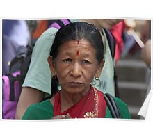Nepali woman in Kathmandu Poster