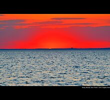 Long Island Sound Red Sunset - Stony Brook, New York by © Sophie W. Smith