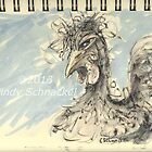 Small Chicken Ink Sketch by © Cindy Schnackel
