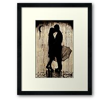 rainy day love story Framed Print