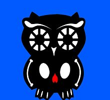Skull Owl/ blue by D-Vega