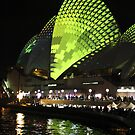 Vivid 2013 - Opera House Green 1 by Kezzarama