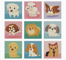 Many poses of puppies by Toru Sanogawa