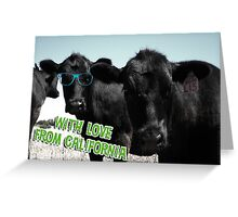 With Love From California Cows Greeting Card