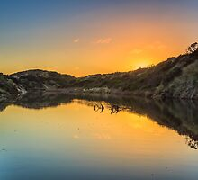 Creek Sunrise by fotosic