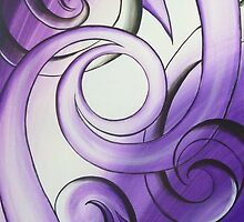 Purple Stained Glass by Reina  Cottier Art