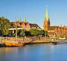 Bremen in evening light, Germany by Mapics
