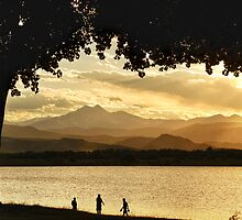 Great End to a Golden Day At the Lake  by Bo Insogna