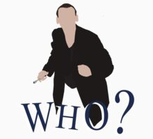 """WHO?"" Ninth Doctor T-Shirt by asnish"