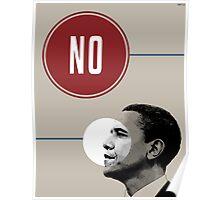 No Obama Poster