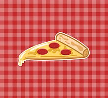 Cartoon Pizza Slice by destei