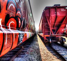 Freight Train Graffetti by Stephen Burke