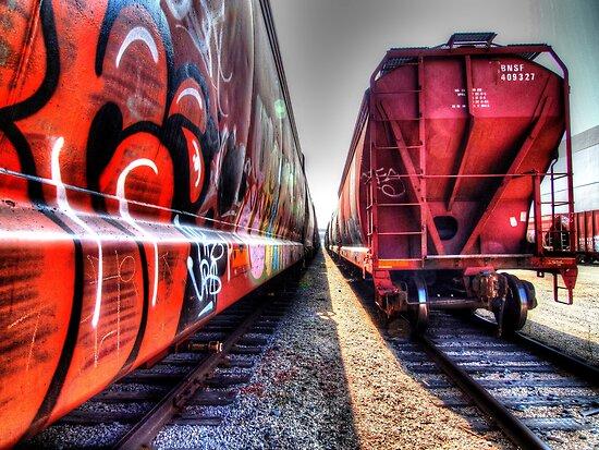 Freight Train Graffetti by Stephen Burke