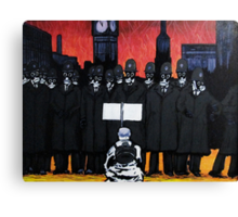 Panic on the streets of london Canvas Print