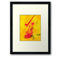 Catching the red wave Framed Print