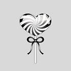 Black And White Heart Lollipop by destei