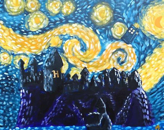 Dr Who Hogwarts Starry Night by jerasky