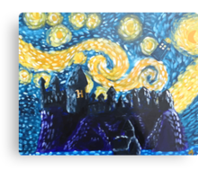 Dr Who Hogwarts Starry Night Metal Print