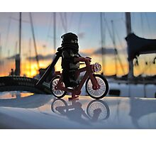 Ninja Training - Riding the Bike Photographic Print