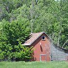 Red Barn With Lean Two by RenieRutten