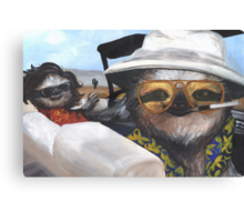 Fear and Loathing in Sloth Vegas Canvas Print