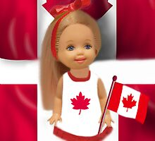 °♥ ˚ • ★PATRIOTIC DOLL WAVING HER FLAG FOR CANADA TRUE PATRIOT LOVE °♥ ˚ • ★ by ╰⊰✿ℒᵒᶹᵉ Bonita✿⊱╮ Lalonde✿⊱╮