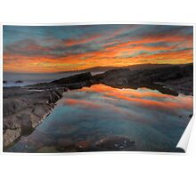 Boat Harbour Sunset. Poster