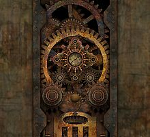 Infernal Steampunk Machine #2C iPhone / iPod case by Steve Crompton