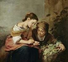 The Little Fruit-Seller, 1670-75 (oil on canvas) by Bridgeman Art Library