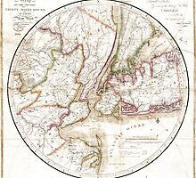 New York Map 1828 by VintageLevel