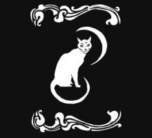 Moon Cat 2 T-Shirt  by Allie Hartley