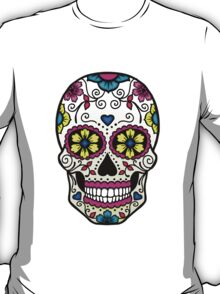 Purple Sugar Skull T-Shirt