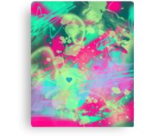 Dispersed love Canvas Print