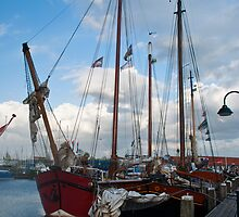 Schooners in the Netherlands by Cathy Jones
