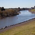 Hunter River looking downstream, Maitland, NSW Australia by SNPenfold