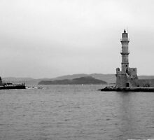 Venetian Lighthouse 2 Chania, Crete, Greece by Susan Wellington