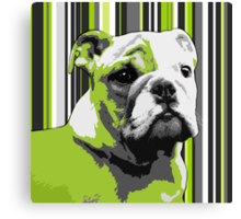 English Bulldog Puppy Abstract Canvas Print