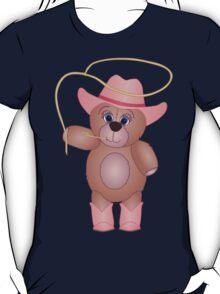 Cute Cartoon Teddy Bear Cowgirl T-Shirt