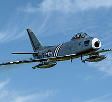F-86A Sabre 48-0178 G-SABR fast pass by Colin Smedley