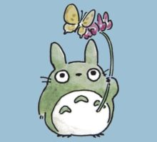 Totoro flower with butterfly by PippoNoise